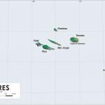 Mappa delle isole Azzorre