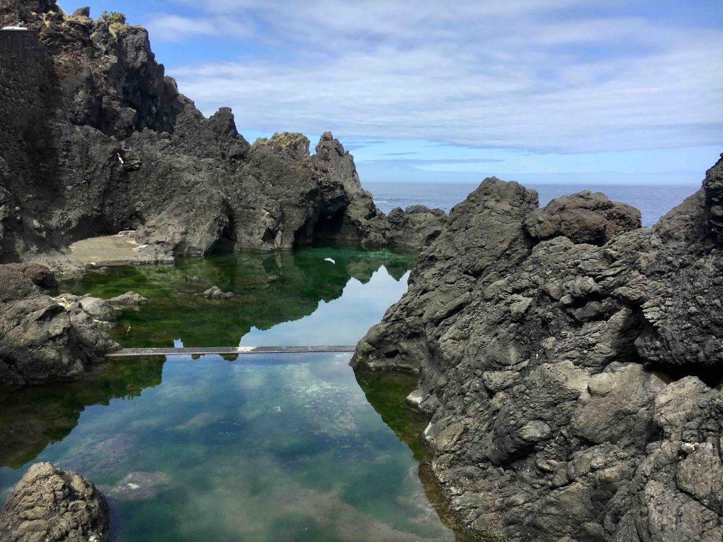 Piscina naturale marina alle Azzorre