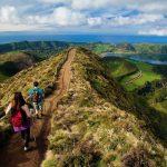 Orizzonte facendo trekking alle Azzorre